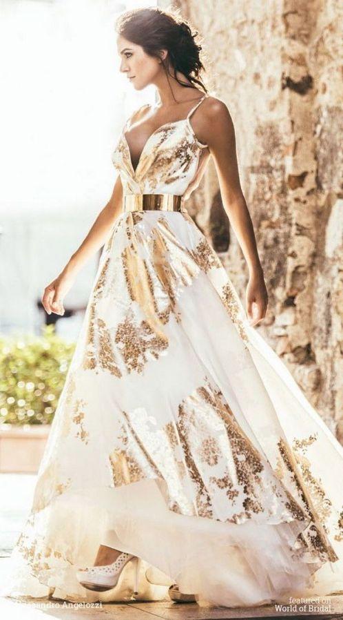 20 Gold Prom Dresses Flower ideas 12