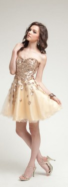 20 Gold Prom Dresses Flower ideas 13