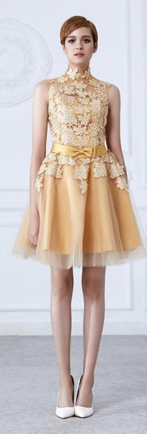 20 Gold Prom Dresses Flower ideas 16