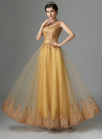 20 Gold Prom Dresses Flower ideas 5
