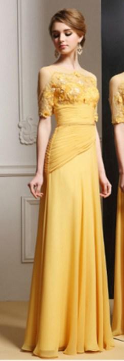 20 Gold Prom Dresses Flower ideas 7