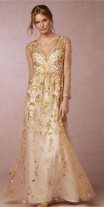 20 Gold Prom Dresses Flower ideas 9