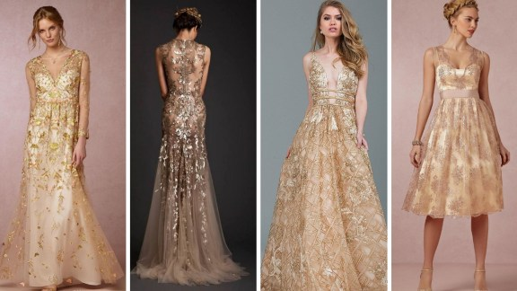 20 Gold Prom Dresses Flower ideas