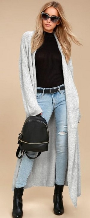 20 Long Sweater Cardigan Pocket Ideas 5