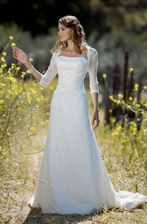 27 Simple White Long Sleeve Wedding Dresses ideas 11