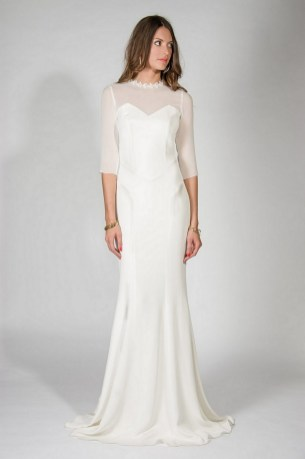 27 Simple White Long Sleeve Wedding Dresses ideas 18