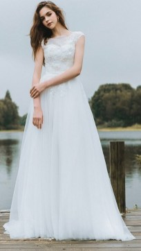 27 Simple White Long Sleeve Wedding Dresses ideas 19