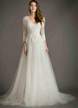 27 Simple White Long Sleeve Wedding Dresses ideas 2