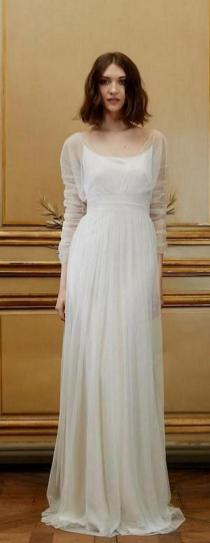 27 Simple White Long Sleeve Wedding Dresses ideas 21