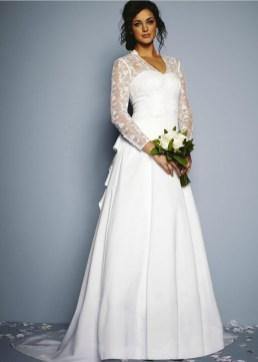 27 Simple White Long Sleeve Wedding Dresses ideas 25