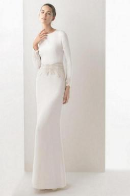 27 Simple White Long Sleeve Wedding Dresses ideas 4