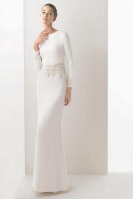 27 Simple White Long Sleeve Wedding Dresses ideas 4