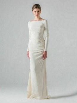 27 Simple White Long Sleeve Wedding Dresses ideas 8