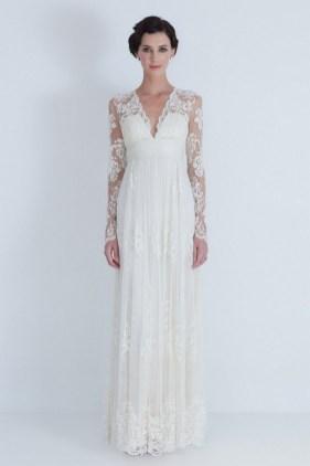 27 Simple White Long Sleeve Wedding Dresses ideas 9