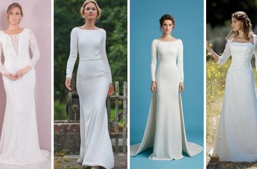 27 Simple White Long Sleeve Wedding Dresses ideas