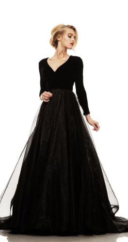 30 Black Long Sleeve Wedding Dresses ideas 11