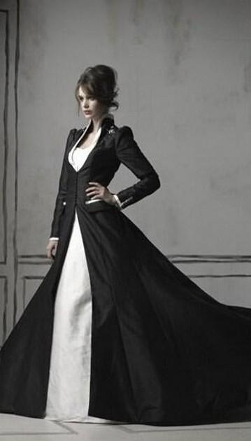 30 Black Long Sleeve Wedding Dresses ideas 13