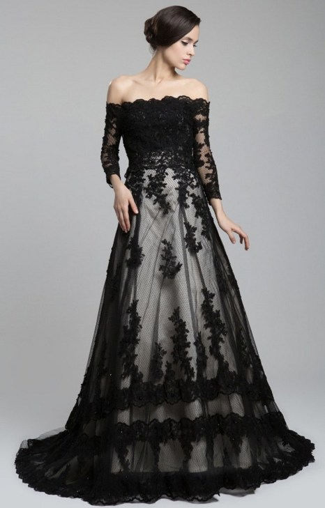 30 Black Long Sleeve Wedding Dresses ideas 17 1