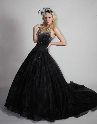 30 Black Long Sleeve Wedding Dresses ideas 17
