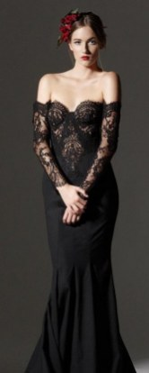 30 Black Long Sleeve Wedding Dresses ideas 19