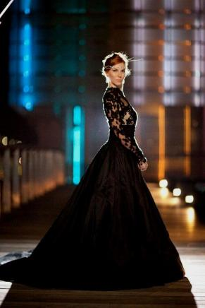 30 Black Long Sleeve Wedding Dresses ideas 2