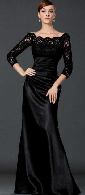 30 Black Long Sleeve Wedding Dresses ideas 22 1