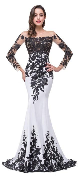 30 Black Long Sleeve Wedding Dresses ideas 25