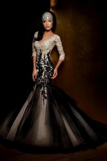 30 Black Long Sleeve Wedding Dresses ideas 3 2