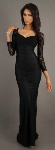 30 Black Long Sleeve Wedding Dresses ideas 31 1