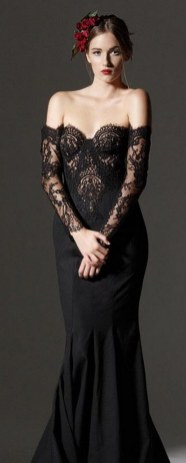 30 Black Long Sleeve Wedding Dresses ideas 5