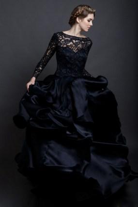 30 Black Long Sleeve Wedding Dresses ideas 8