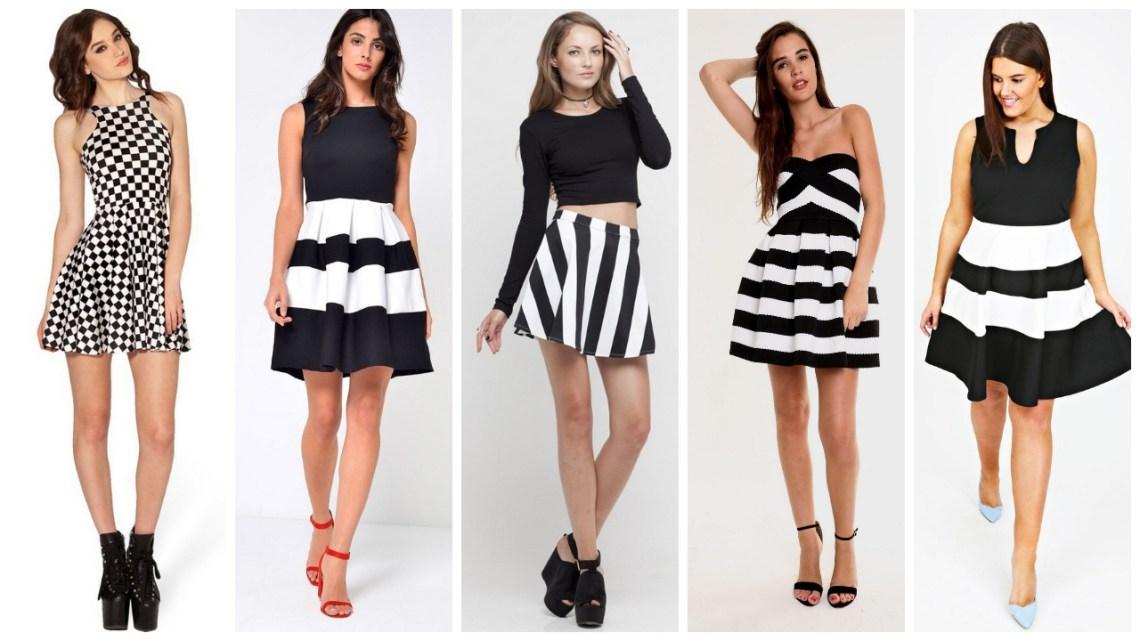 30-The-Evolution-of-skater-dress-black-and-white