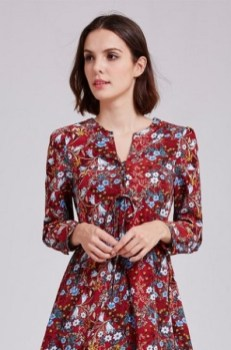 30 Women Print Dresses with sleeves Ideas 10