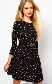 30 Women Print Dresses with sleeves Ideas 14