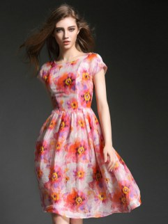 30 Women Print Dresses with sleeves Ideas 17