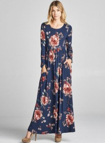30 Women Print Dresses with sleeves Ideas 2