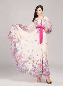 30 Women Print Dresses with sleeves Ideas 21