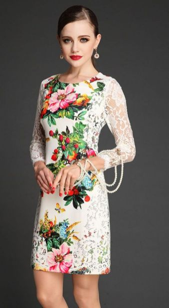 30 Women Print Dresses with sleeves Ideas 30