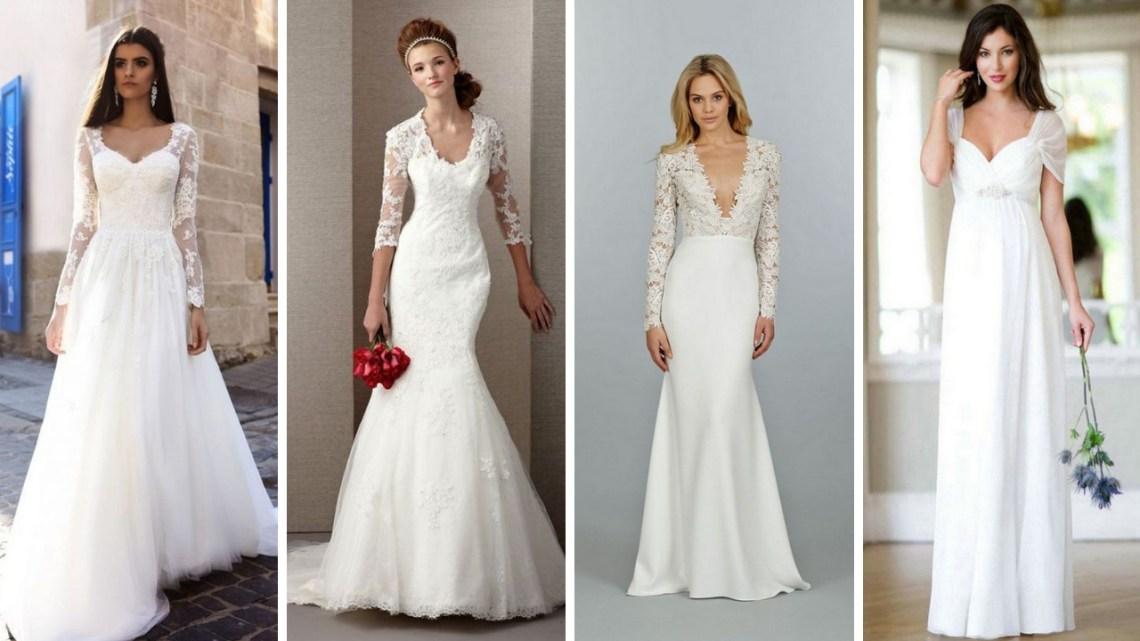 40 High Low Long Sleeve Modern Wedding Dresses Ideas