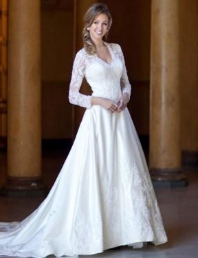 40 High Low Long Sleeve Modern Wedding Dresses Ideass 10