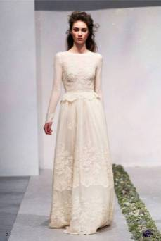 40 High Low Long Sleeve Modern Wedding Dresses Ideass 11