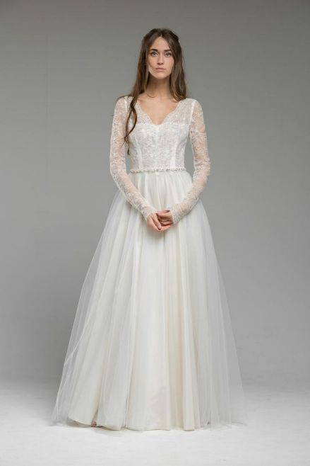 40 High Low Long Sleeve Modern Wedding Dresses Ideass 13