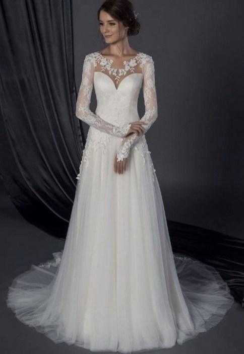40 High Low Long Sleeve Modern Wedding Dresses Ideass 18
