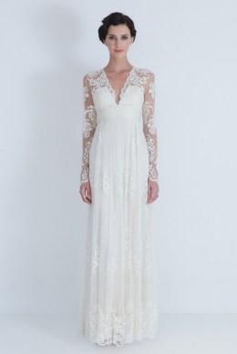 40 High Low Long Sleeve Modern Wedding Dresses Ideass 30