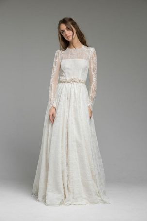 40 High Low Long Sleeve Modern Wedding Dresses Ideass 31
