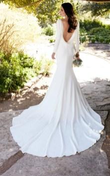 40 High Low Long Sleeve Modern Wedding Dresses Ideass 34