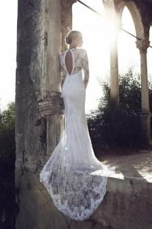 40 High Low Long Sleeve Modern Wedding Dresses Ideass 35