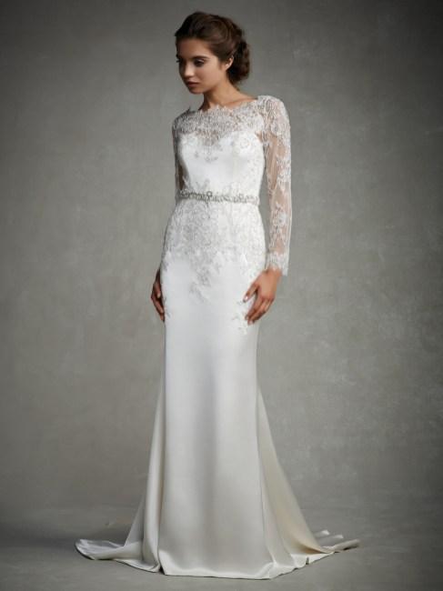 40 High Low Long Sleeve Modern Wedding Dresses Ideass 36
