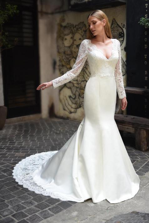 40 High Low Long Sleeve Modern Wedding Dresses Ideass 40