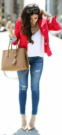 40 Womens red blazer jackets ideas 14